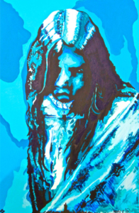 """Apache Blue"" by Carrie Reede Curley (Apache)"