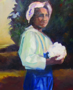 "Detail from ""A Typical Mexican Girl″ (2010) by Gloria Holguín Cuádraz"