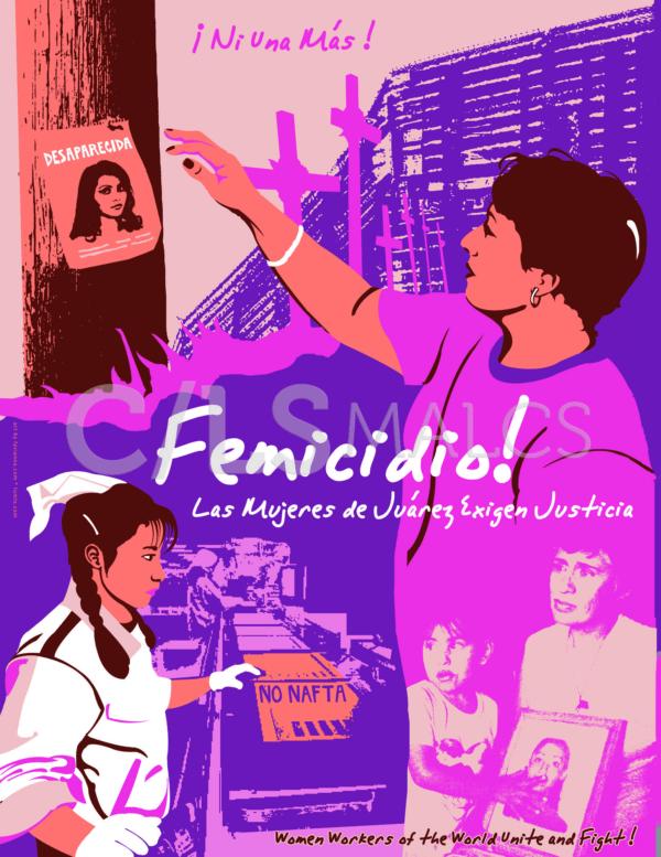 """Detail of """"Femicidio: Las Mujeres de Juárez Exigen Justicia"""" by Favianna Rodríguez"""
