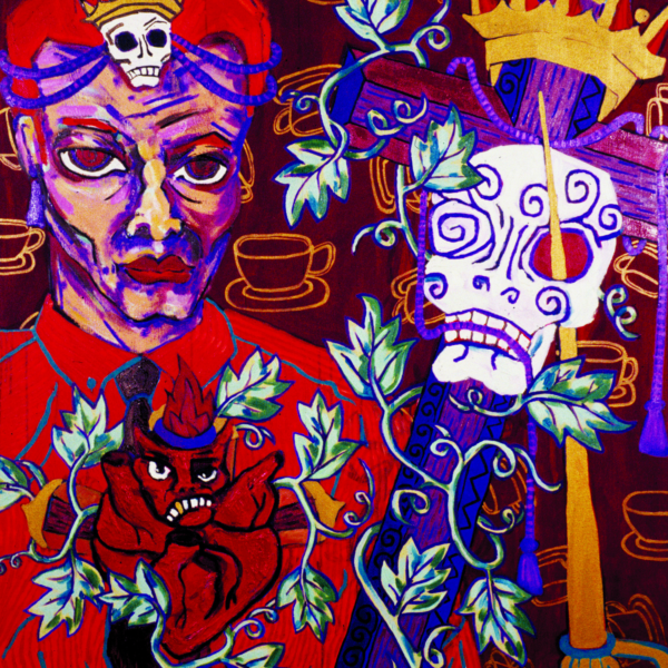 "Detail of ""Bloody Coffee"" by Diane Gamboa"