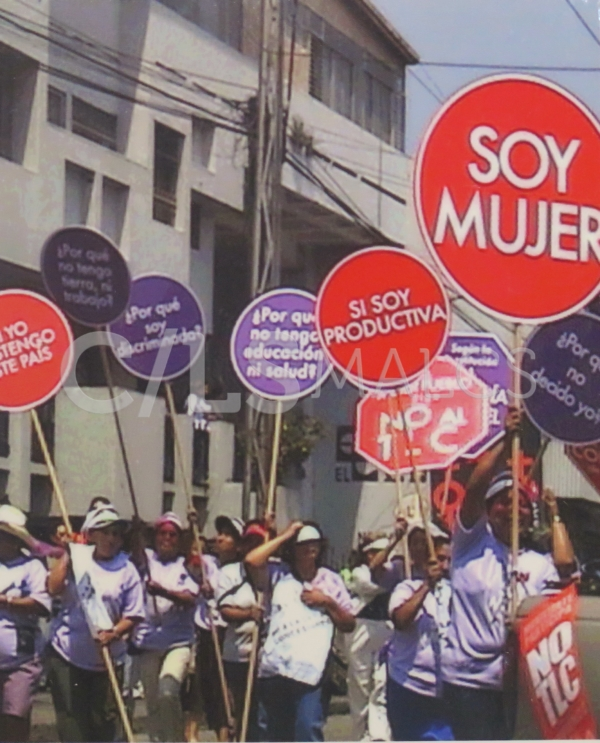 Demonstration for International Women's Day in Guatemala City, March, 2005. Photograph by Roselyn Costantino
