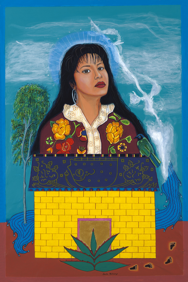 Mujeres Nobles series, 2007. Copyright of artist Santa Barraza, from the art collection of Dr. Laura Rendon